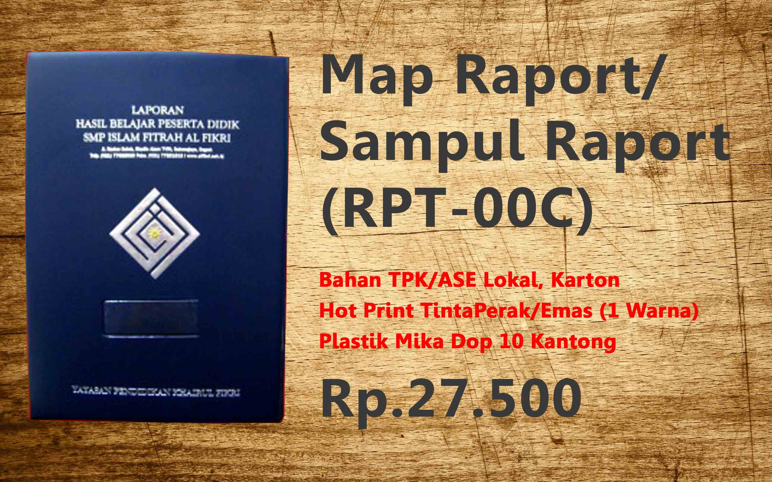 Map Raport/ Sampul Raport (RPT-00C)